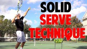 Tennis Serve tip